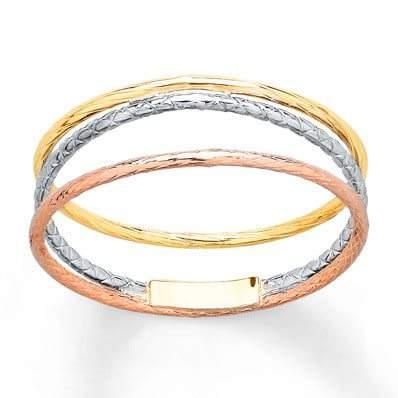 Spiral Ring 14K Tri-Color Gold