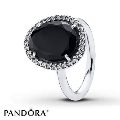 PANDORA Ring Black Spinel Sterling Silver