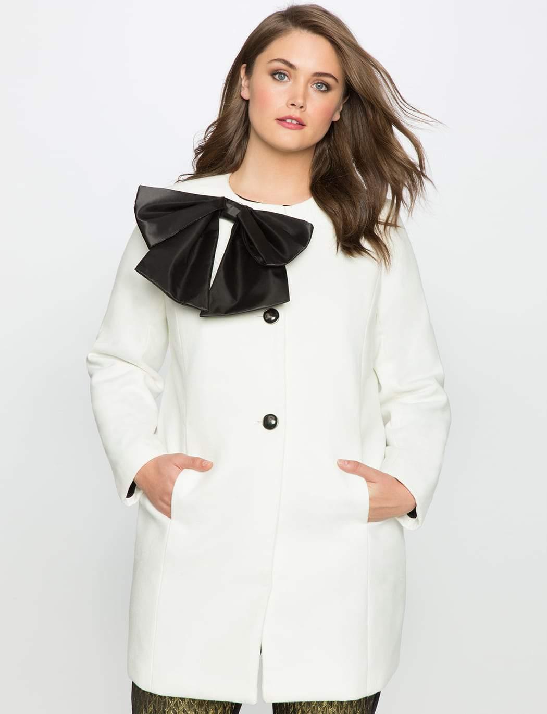 Eloquii Studio Bow Coat