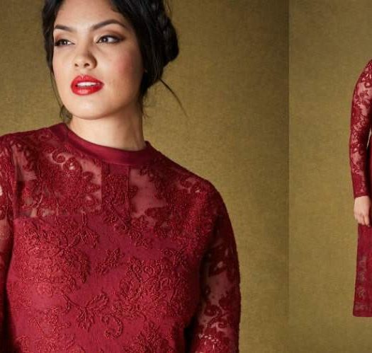 Plus Size Lace Midi Dress at SimplyBe