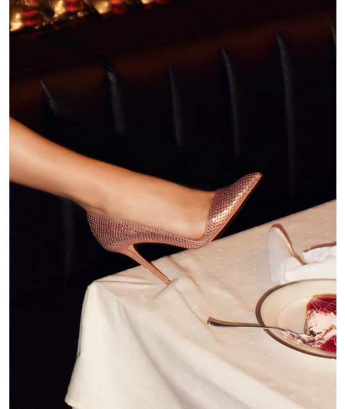 Warm Up to Rose Gold: Ossie – Studded d'Orsay Pump