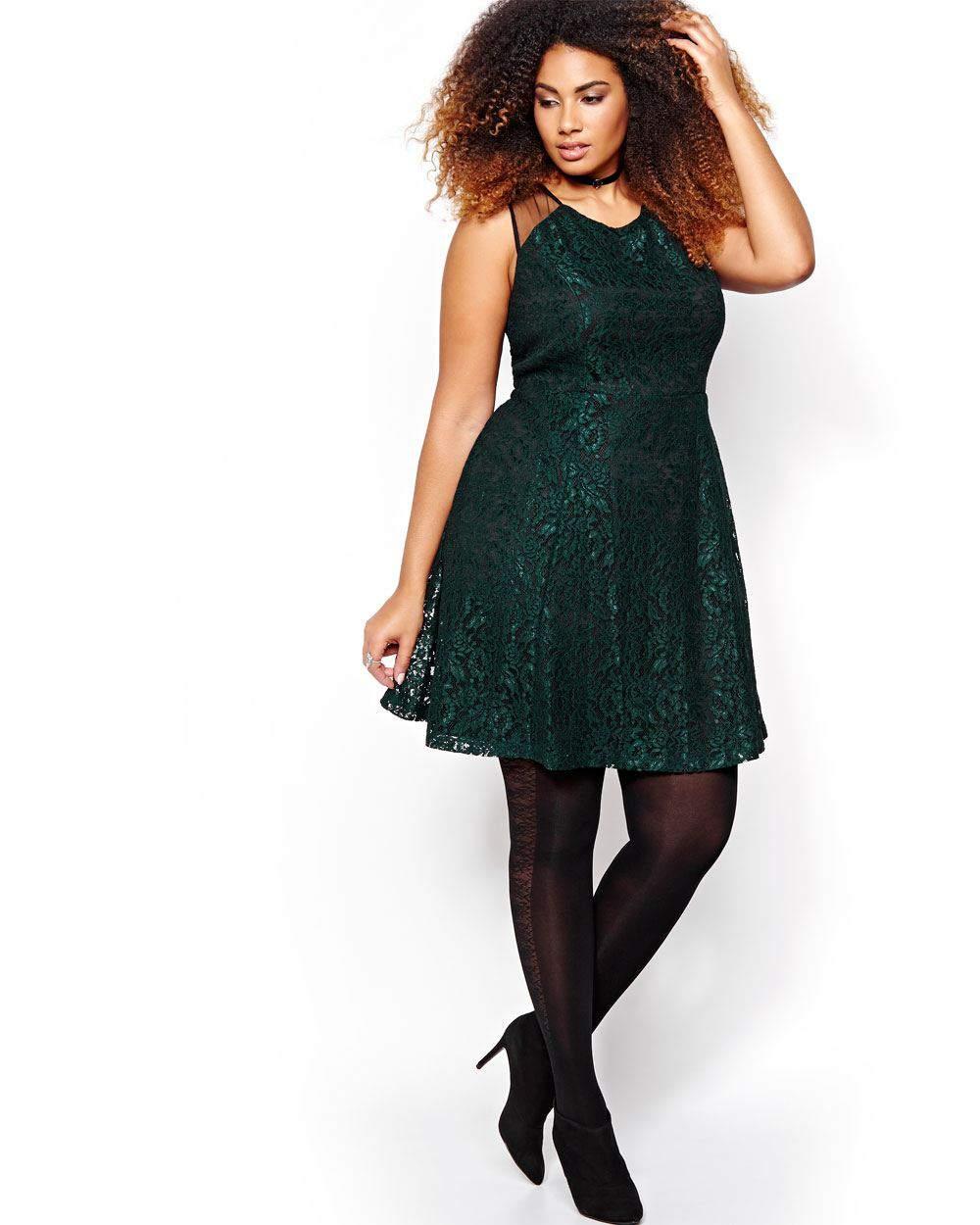 Michel Studio Lace Column Plus Size Dress