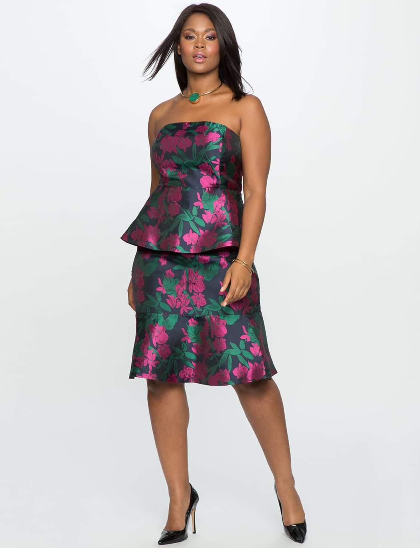 Studio Double Peplum Plus Size Dress