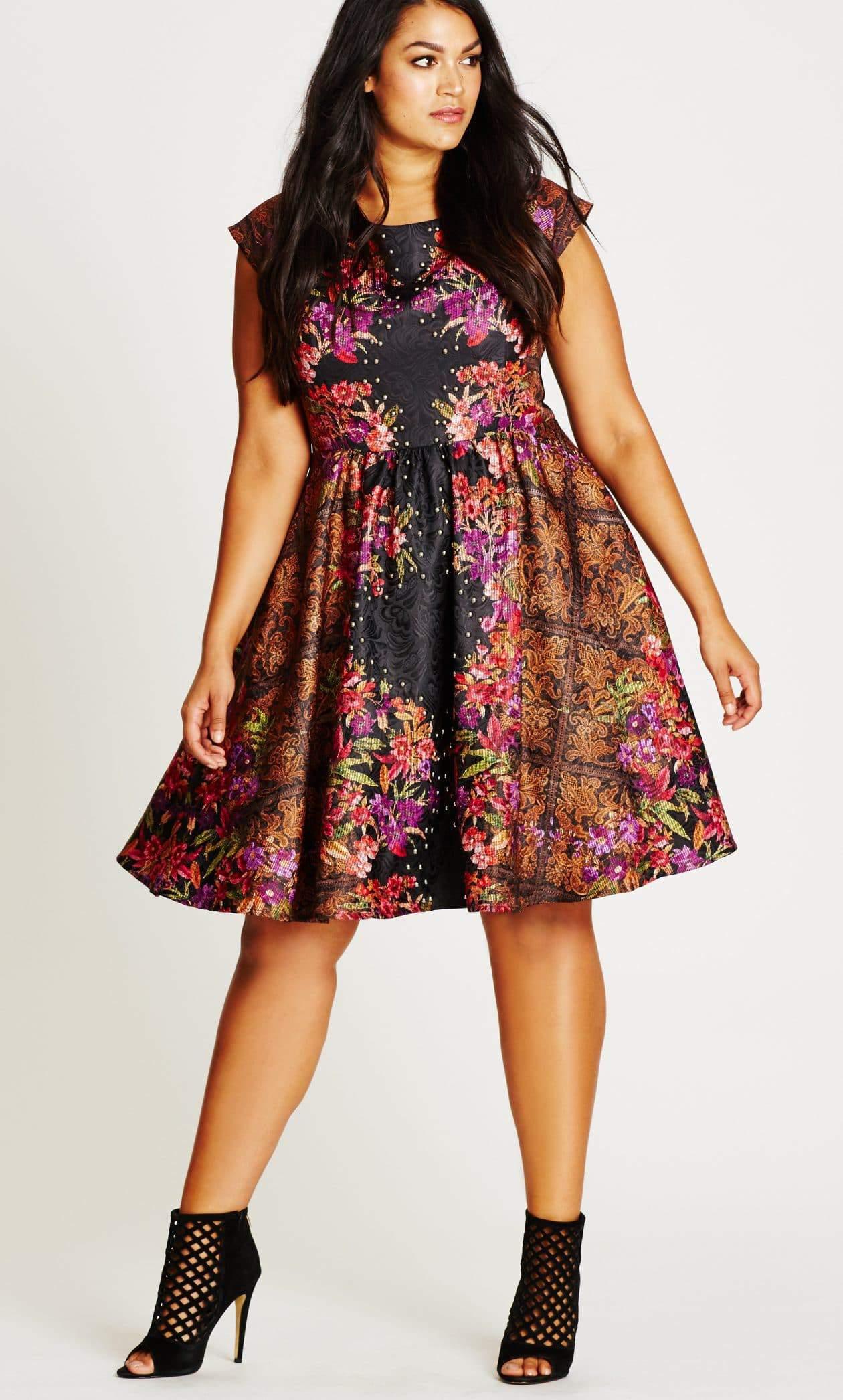 Plus Size Hollyhock Femme Royale Fit & Flare Dress