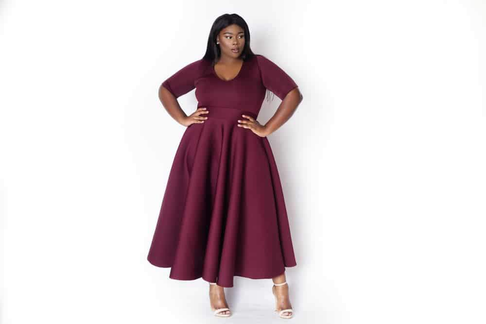 Khloe Burgundy Gown by Courtney Noelle
