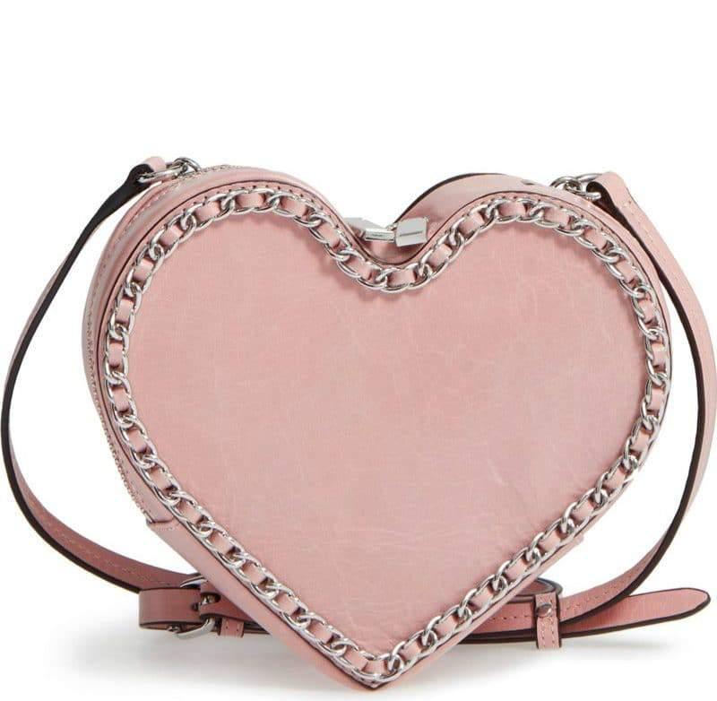 Chain Heart Crossbody Bag