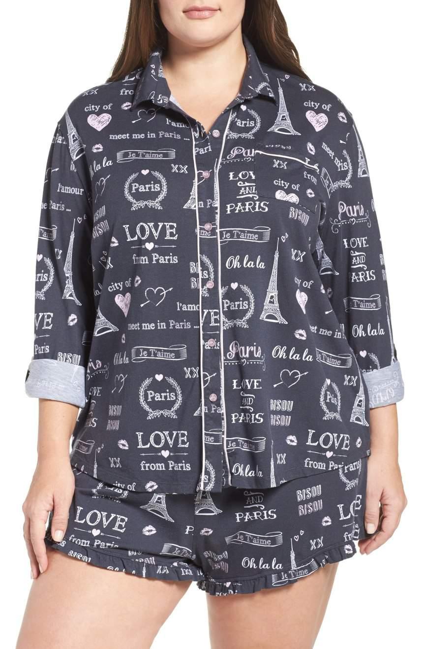 PJ Salvage Short Pajamas in Plus Size