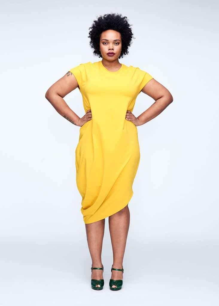 Geneva Dress in Yellow at Universal Standard