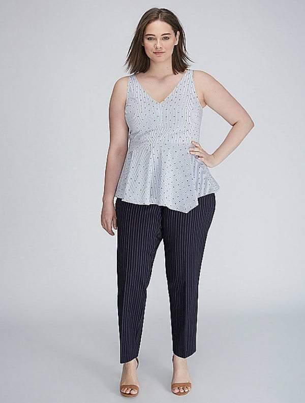 Plus Size Workwear Refresh: 7 Pieces to Update Your Look Right Now- Asymmetrical Peplum Top