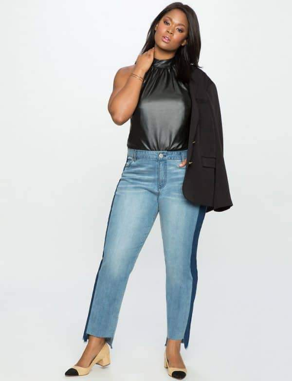 Color Blocked Plus size Jeans from eloquii