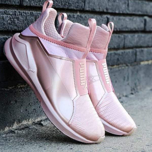 Rose Gold Sneakers- Puma 'Fierce Metallic' High Top Sneakers