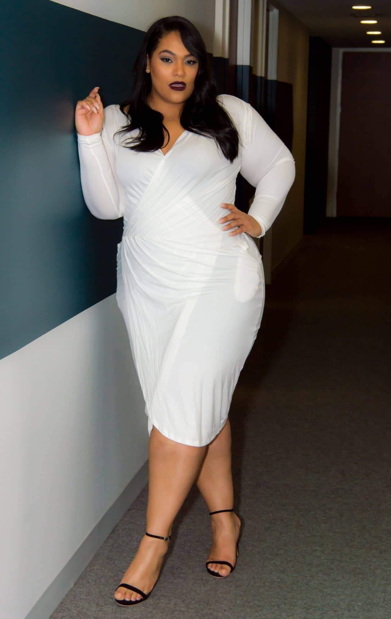 Plus Size Designer- Kay Dupree Classic Wrap Dress