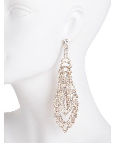 ABS Gold Long Chandelier Earrings 2