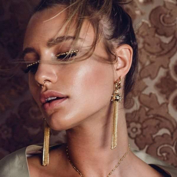 Baroque Tassel Earrings - Gold at LuvAj.com