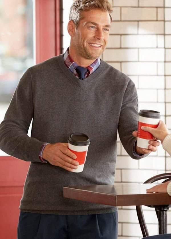 Cutter & Buck™ Broadview V-Neck Sweater at DestinationXL