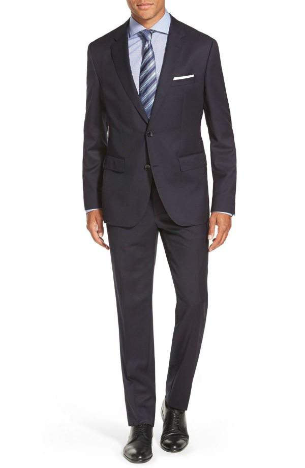 His Style: 7 Spring Style Essentials for The Big & Tall Man!-Johnstons/Lenon Trim Fit Wool Suit at Nordstrom.com