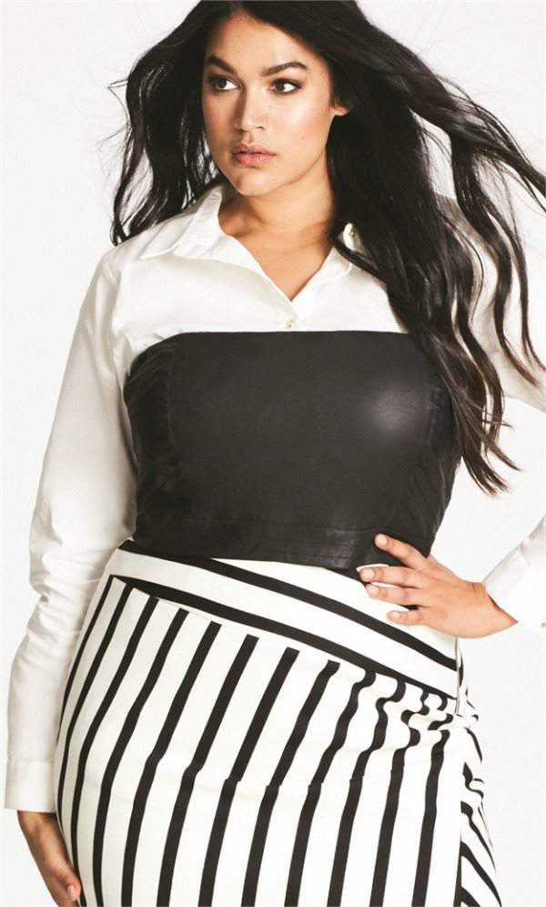 007 Plus Size Two-Piece Shirt at CityChic.com