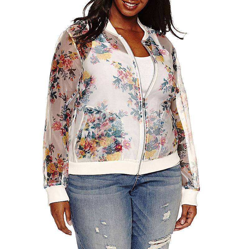 Ashely Nell Tipton for Boutique + Bomber Jacket-Plus