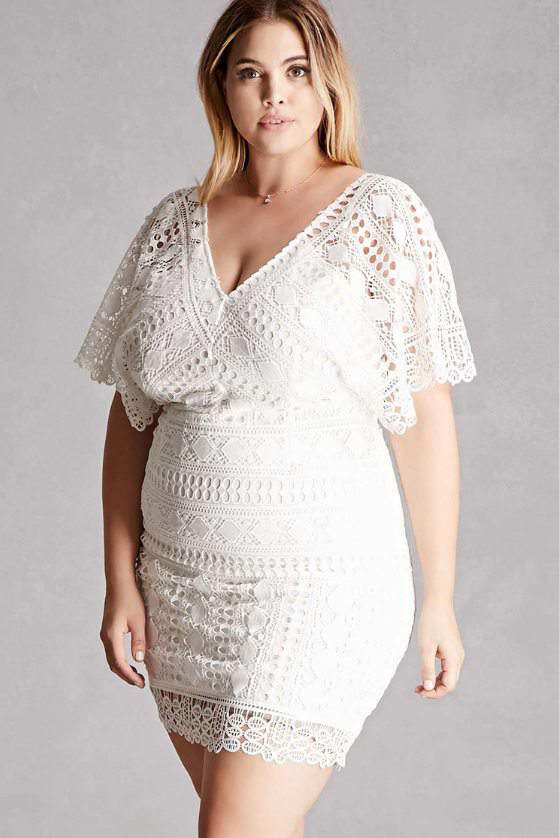 Plus Size Soieblu Crochet Dress by Forever21
