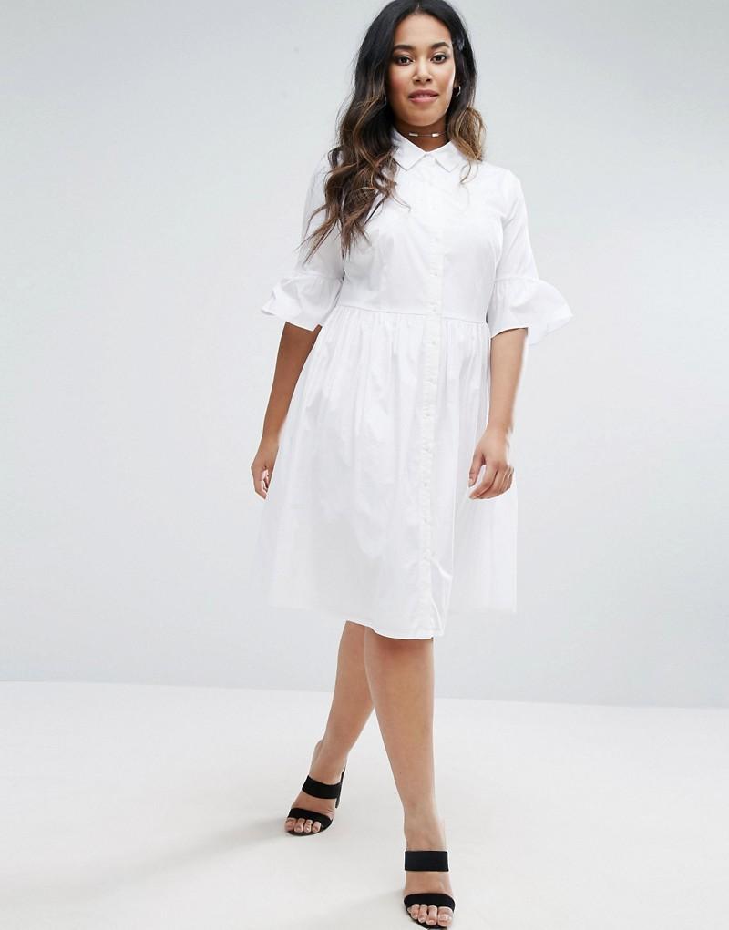 Lovedrobe Frill Sleeve Shirt Dress