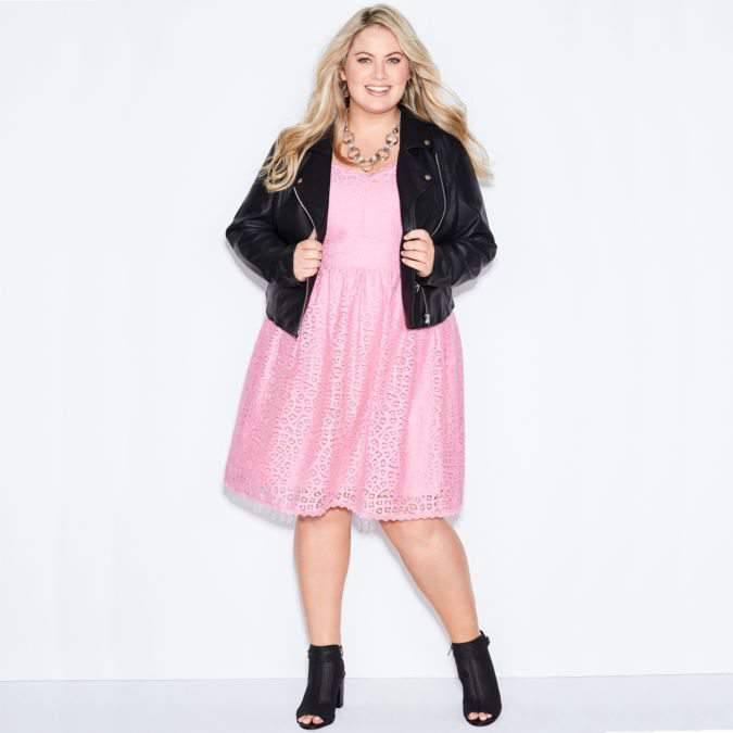 Ashley Nell Tipton X JCPenney Lace Dress and Moto