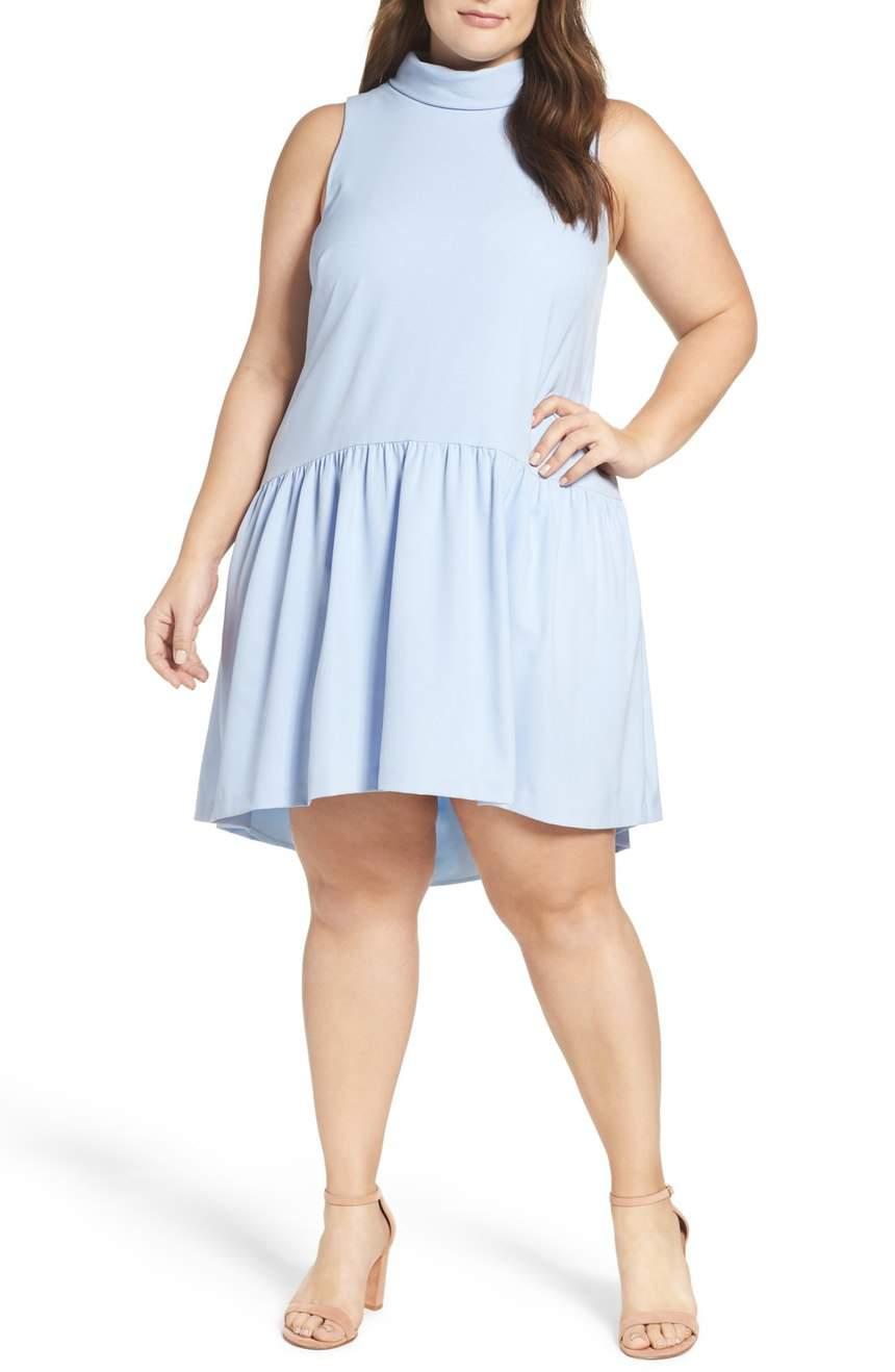 Eliza J Plus Size Drop Waist Dress