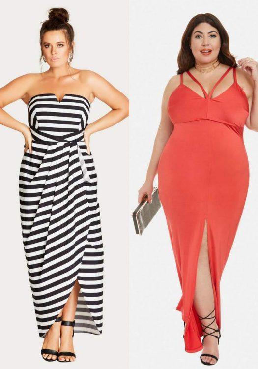 Spring Plus Size maxi Dresses