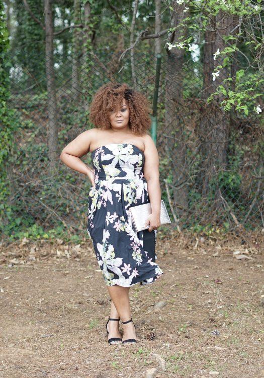 Marie Denee in City Chic Strapless Dress