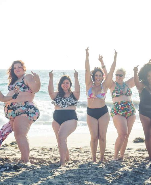 Bravely bare your belly, booty, and body hair in a bikini