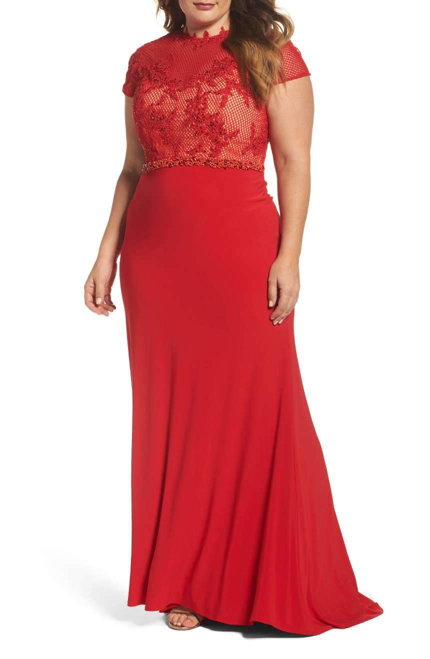 What to Wear to an Evening Wedding- Embellished Crochet & Jersey Gown
