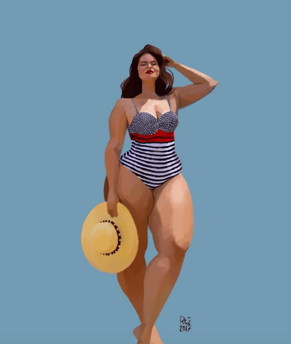 Plus Size Art: Check Out This Beautiful Body-Positive Art By Pierre Rütz!