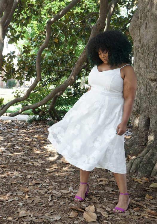 Marie Denee, The Curvy Fashionista, city chic, plus size white dress