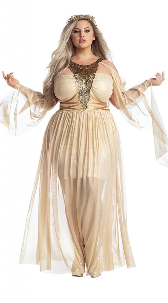 Plus size halloween costumes- Plus Size Gorgeous Goddess Costume- Yandy