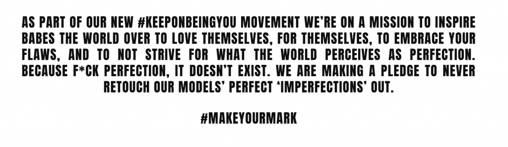 Missguided's #MakeYourMark Campaign