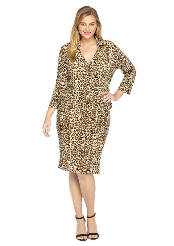 The Limited Plus Size Printed Tie wrap dress