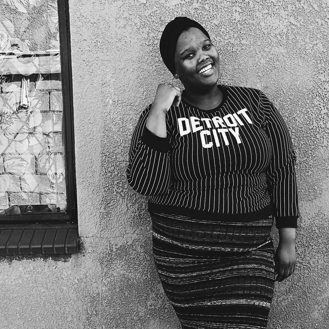 Plus size blogger Nomali from Soweto
