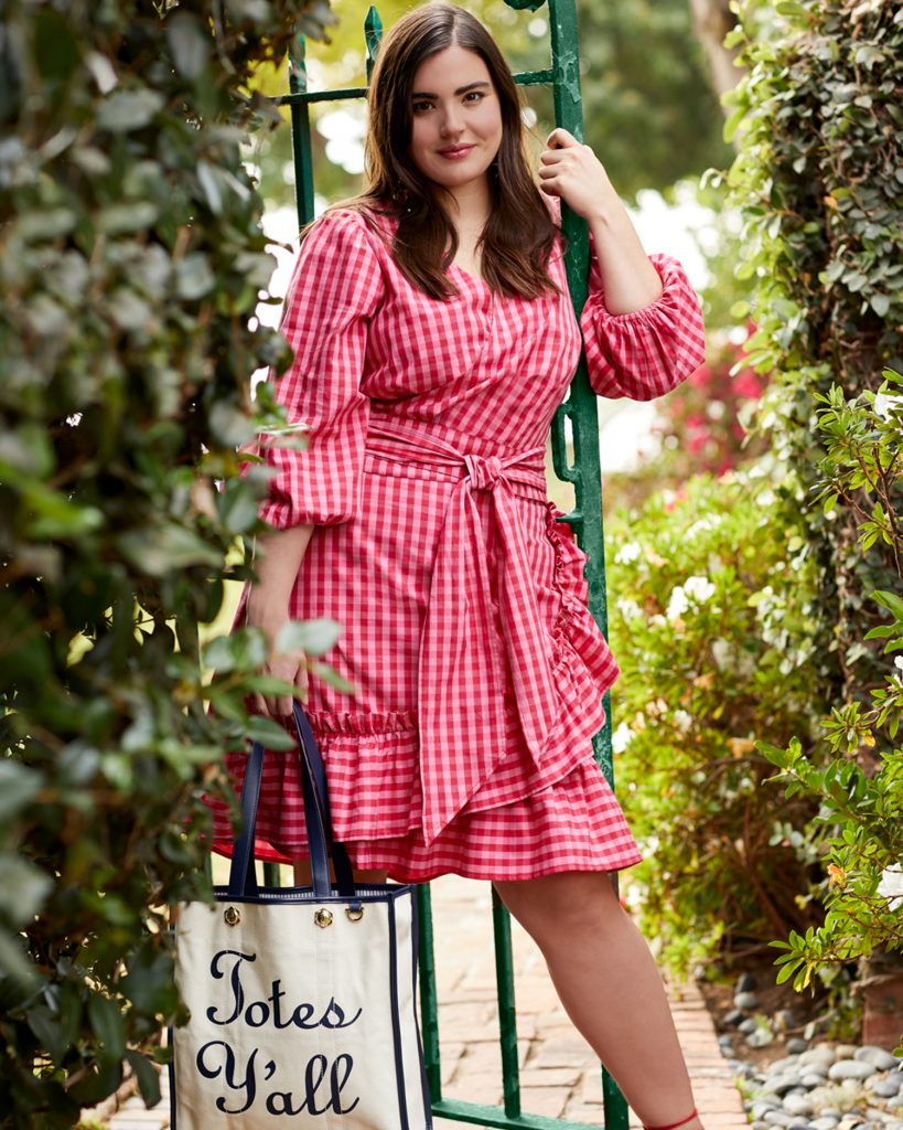 Draper James for ELOQUII Gingham top and Skirt