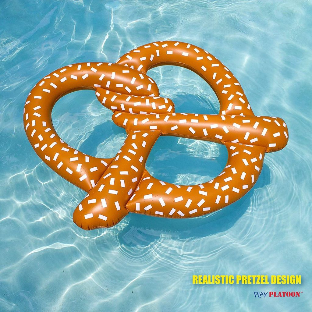 Inflatable Pretzel Pool Float - Summer Fun for the Beach or Pool, Over 5 Feet Wide!