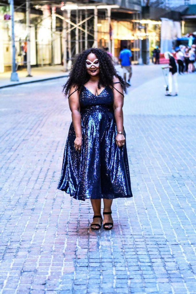 Marie Denee in ZbyZevarra at FFFWeek's Masquerade Ball