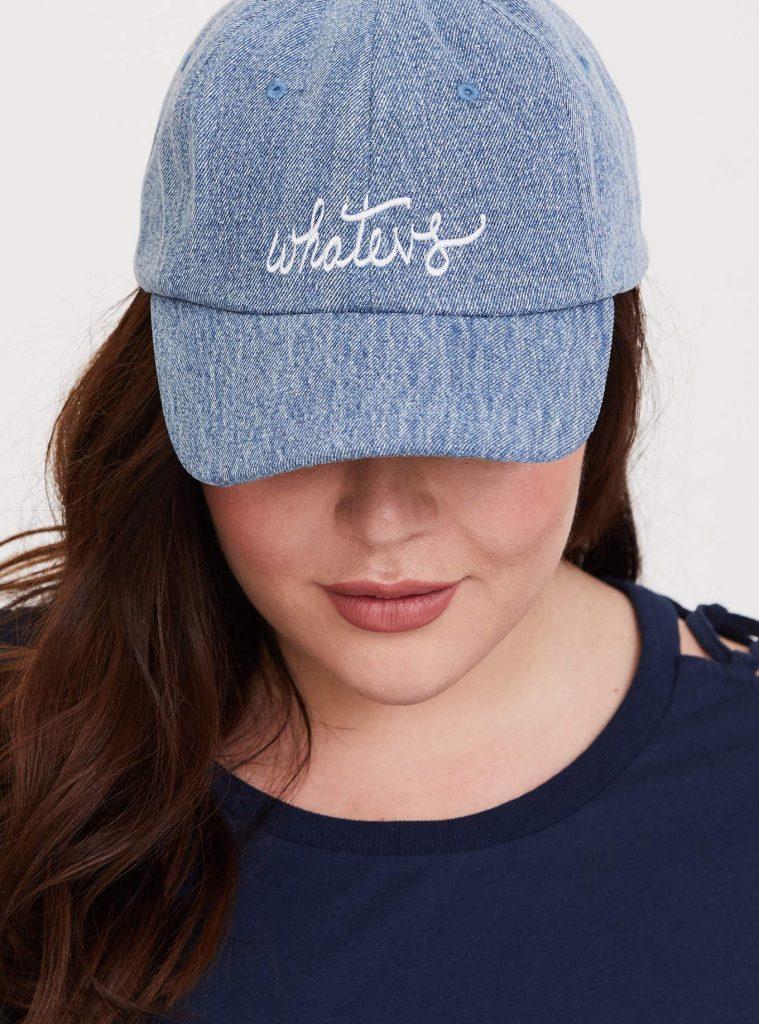 Denim 'Whatevs' Baseball Cap