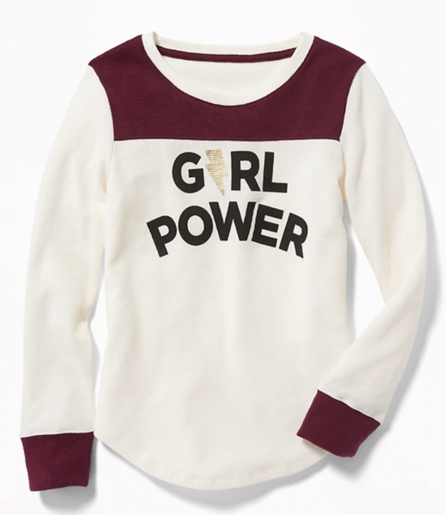 Thermal Football-Style Tee for Girls