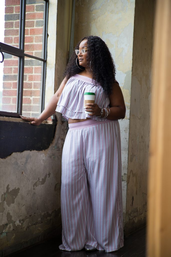 Marie Denee from The Curvy Fashionista in Soncy Plus Size Matching Set (3)