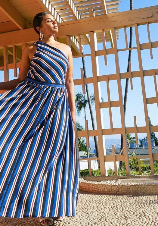 Literally Can't Uneven Asymmetrical Maxi Dress