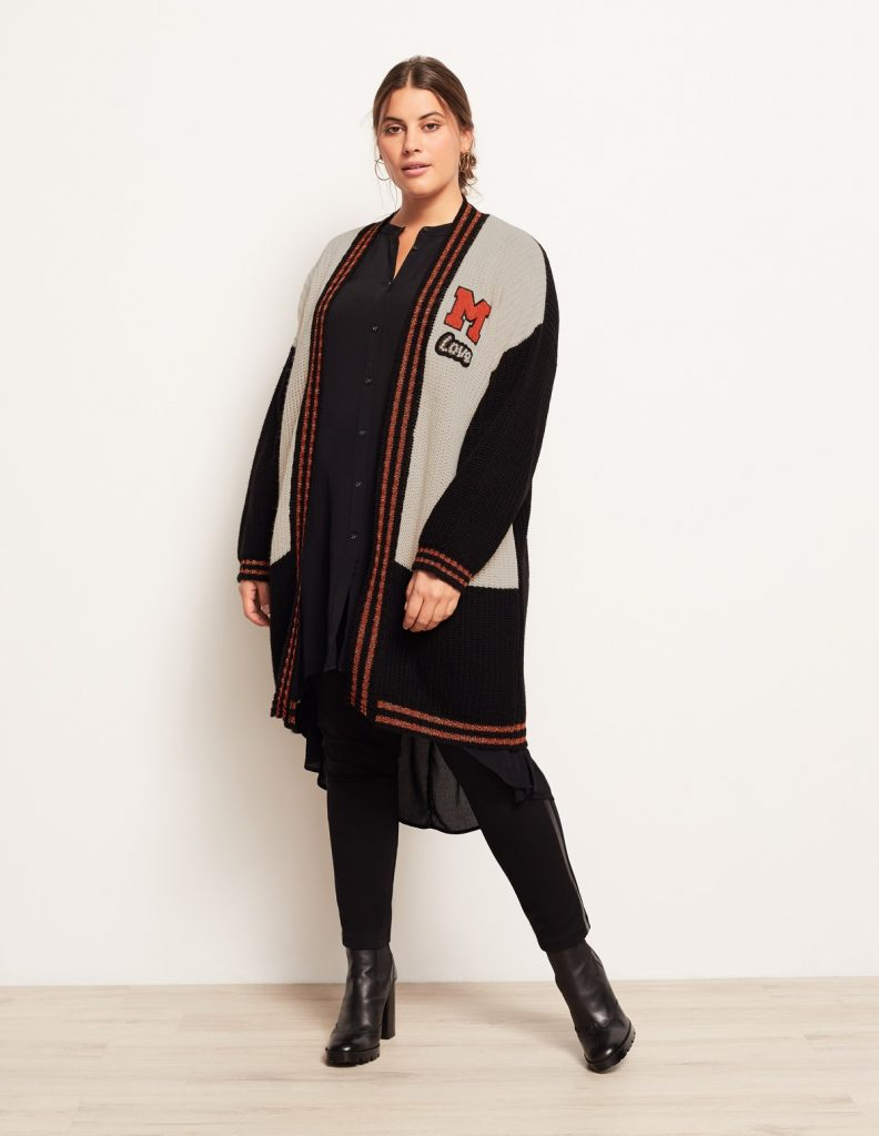 Open End COLLEGE-STYLE CARDIGAN