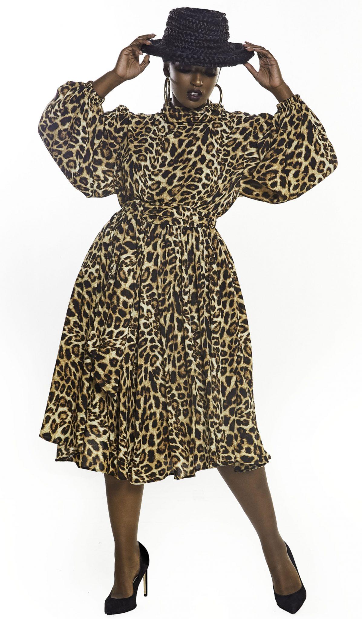 JIBRI Animal Print A-Line Dress