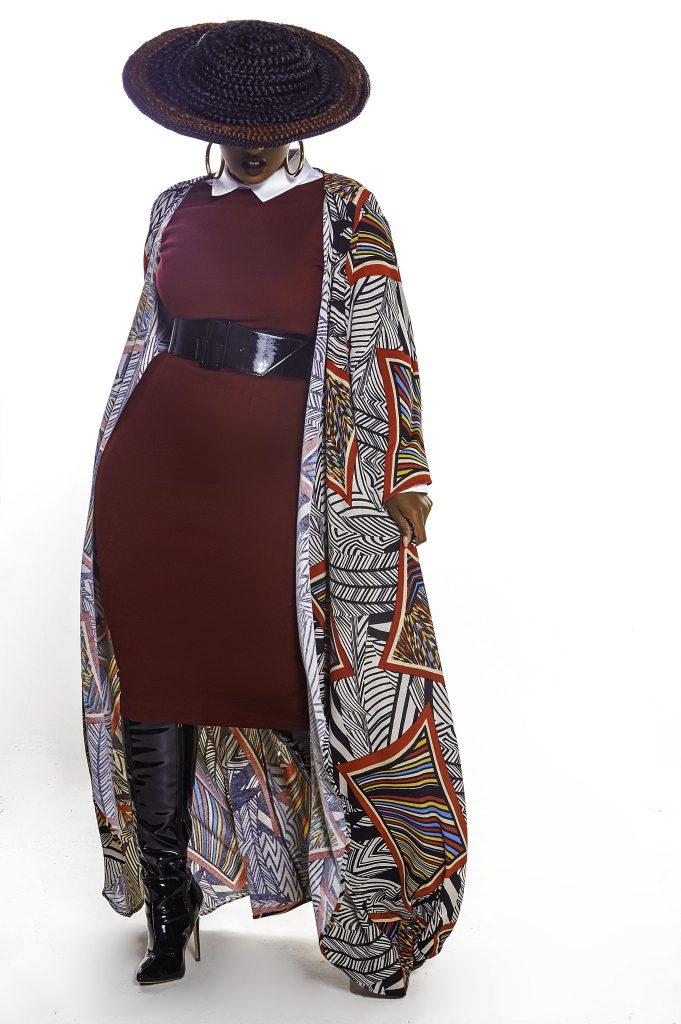 JIBRI Bodycon dress and Kimono