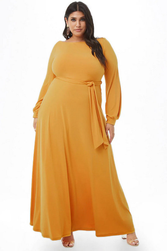 10 Affordable Plus Size Fashion Finds Under $50 - Plus Size Boat Neck Maxi Dress