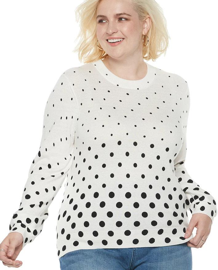 Cute Plus Size Sweaters for Fall- Plus Size POPSUGAR Crewneck Sweater