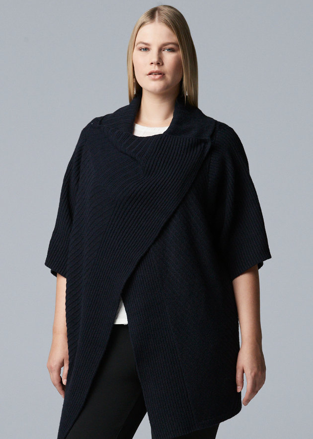 Cute Plus Size Sweaters for Fall- Plus Size Simply Vera Vera Wang Wrap-Up Flyaway Sweater