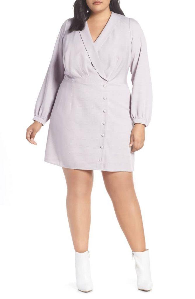 Wayf Plus Size Rozy Glen Plaid Minidress